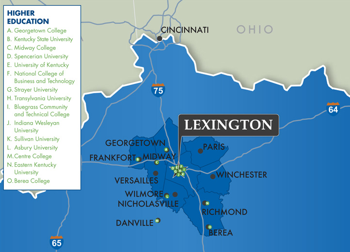 Lexington Education Map